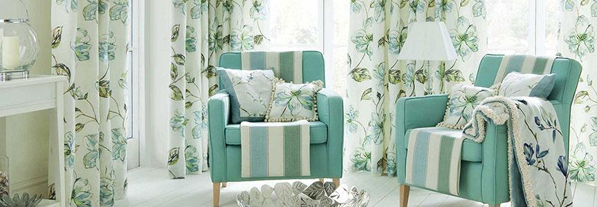 Ткани для штор с цветочным принтом - вдохновение весны